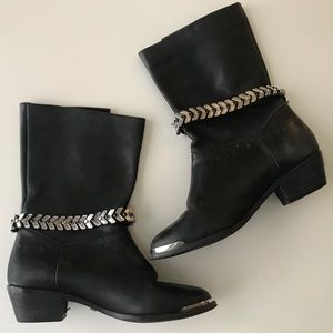 ❗️LAST CALL- FINAL DROP❗️Leather Moto Ankle Boots